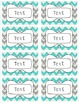 EDITABLE Labels - Turquoise and Grey