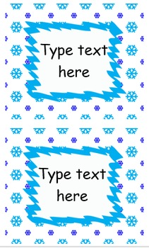 EDITABLE Labels - Winter Pack