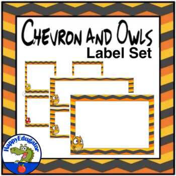 Labels and Teacher Binder Covers - EDITABLE Chevron and Owl Theme BUNDLE