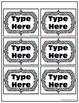 EDITABLE Labels for Classroom Organization, Decor, Stripes & Polka Dots