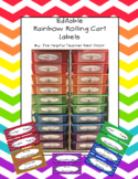 EDITABLE Labels for the Rainbow Rolling Cart