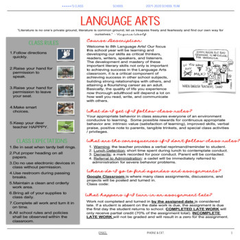EDITABLE Language Arts Syllabus