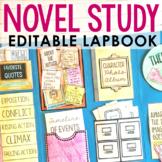 Novel Unit Study Lapbook Project | Creative Book Report | EDITABLE