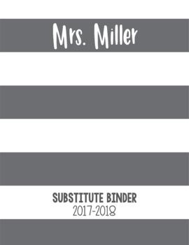 EDITABLE Large Stripe Binder Covers