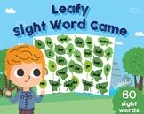 EDITABLE Leafy Sight Words Game, Preschool, Kindergarten Classroom,  Pre-Primer