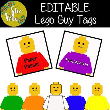 EDITABLE Lego Guy Tags