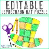 EDITABLE Leprechaun Hat Puzzle - Create your own activity