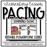EDITABLE Lesson Pacing PowerPoint Slides Distance Learning (BW Version)