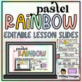 EDITABLE Lesson Pacing PowerPoint Slides Templates | Paste