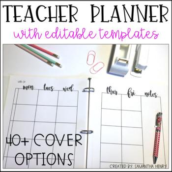 EDITABLE Lesson Plan Binder