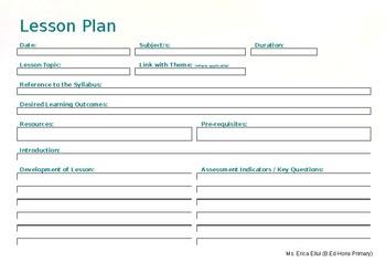 EDITABLE Lesson Plan Landscape - Pastel Template