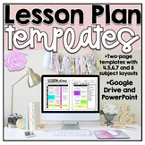 EDITABLE Lesson Plan Templates {Beginning of Year}