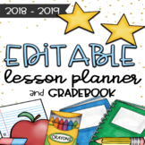 EDITABLE Teacher Planner and Gradebook