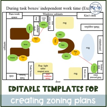 EDITABLE Lesson & Zoning Plans for Special Ed Paraprofessionals #BTS2017