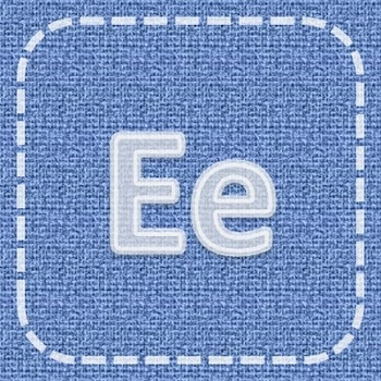 EDITABLE Letters, Numbers, and Labels (Denim, Chalk, & Stitch)