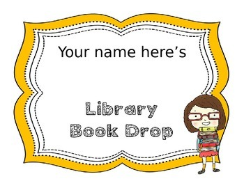 EDITABLE Library Book Drop **FREEBIE**