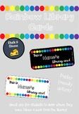 EDITABLE Library Cards (Rainbow)