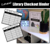 EDITABLE Library Checkout Binder