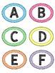 Chevron Brights - EDITABLE Library Labels
