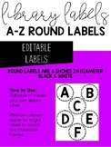 EDITABLE Library Labels A-Z
