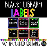 EDITABLE Black Library Labels {for Target Dollar Spot Pockets)