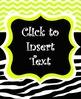 EDITABLE Lime Green and Zebra Print Teacher Binder Covers UPDATED