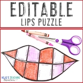 EDITABLE Lips: Create your own Grandparent's Day Distance