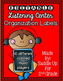 EDITABLE Listening Center Organization Labels