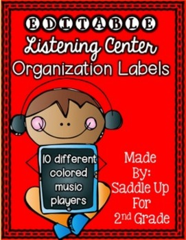 EDITABLE Listening Center Organization Labels