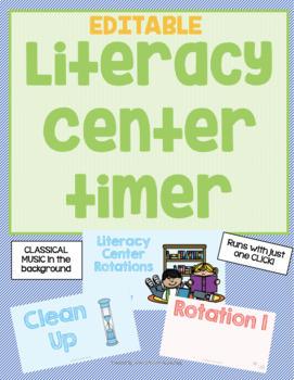 EDITABLE Literacy Center Timer
