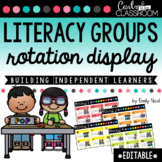 EDITABLE Literacy Groups Rotation Display