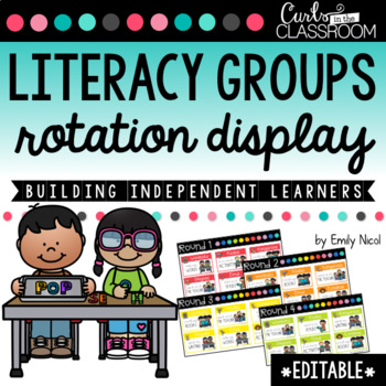 EDITABLE Literacy Groups Rotation Display