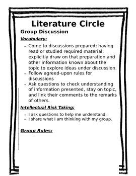 EDITABLE Literature Circle Packet