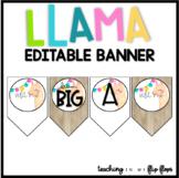 EDITABLE Llama Banner