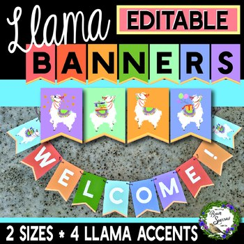 EDITABLE Llama Banner {For Bulletin Boards, Parties, and More!}