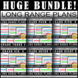 EDITABLE Long Range Plans for Ontario | Grades 3|4|5|6|7|8 | HUGE Bundle SALE!