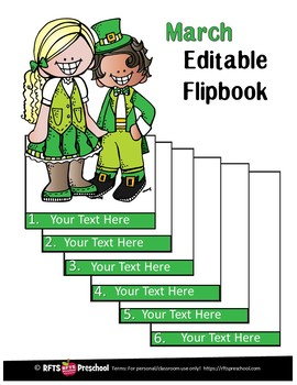 EDITABLE MARCH -FLIP BOOKS - MONTHLY NEWSLETTERS - CALENDARS - TO-DO-LISTS