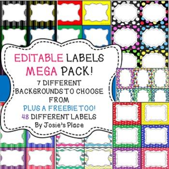 LABELS *EDITABLE MEGA PACK for the classroom, book bins & more. Bonus: freebie!