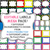 LABELS *EDITABLE MEGA PACK for the classroom, book bins &