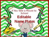 EDITABLE ** MICE Nameplates and Cubby Tags