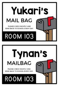 EDITABLE Mail Bag Labels #2