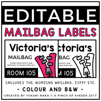 EDITABLE Mail Bag Labels