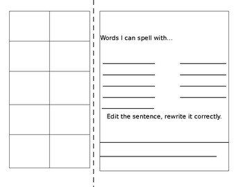 EDITABLE Making Words Template with Example