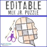 EDITABLE Martin Luther King Jr Puzzle - Create your own activities on any topic!