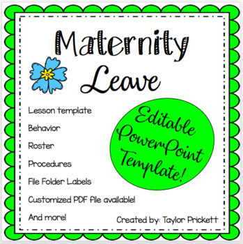 EDITABLE Maternity Leave Binder Parent Letter Templates And More - Parent letter template