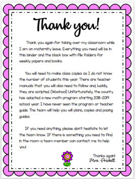 EDITABLE Maternity Leave Binder! (Parent Letter, Templates and more!)
