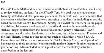 EDITABLE Math Grade 4 STAAR Review Boot Camp