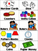 EDITABLE Math Manipulatives Bin-Bucket-Drawer Labels