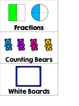 EDITABLE Math Manipulatives Bin-Bucket-Drawer Labels