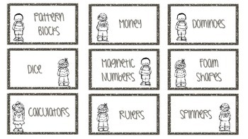 EDITABLE Math Manipulative Labels!
